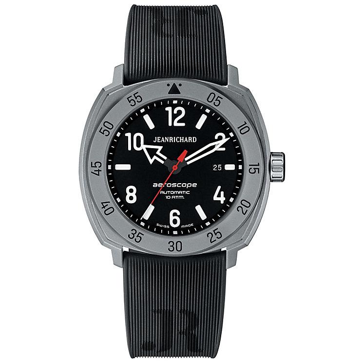JEANRICHARD men's aeroscope black strap watch - Product number 2605287