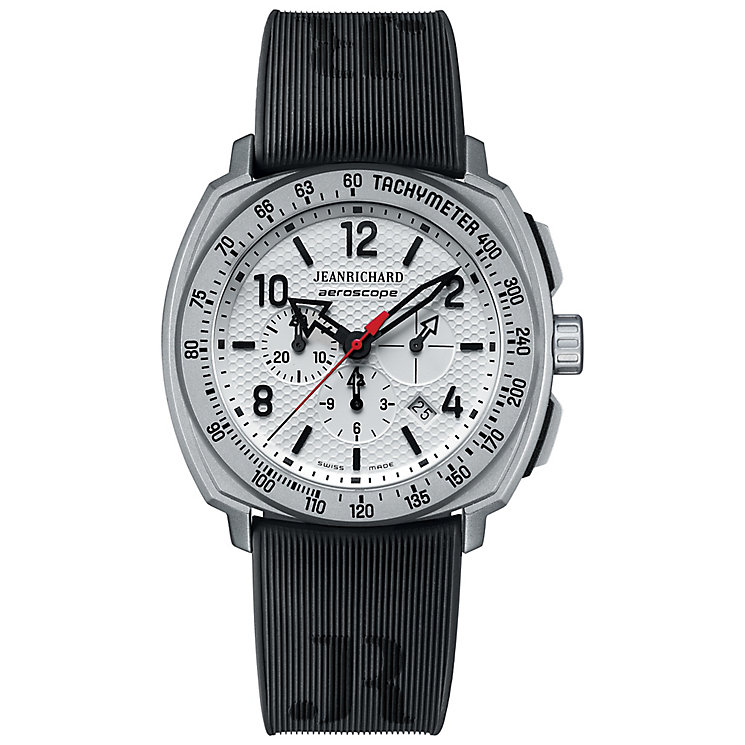 JEANRICHARD men's aeroscope black strap watch - Product number 2605295