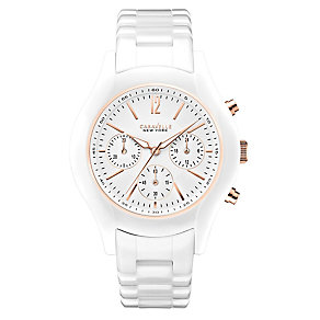 Caravelle New York Ladies' Ceramic Case White Watch - Product number 2605775