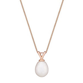 9ct Rose Gold Cultured Freshwater Pearl Pendant - Product number 2605961