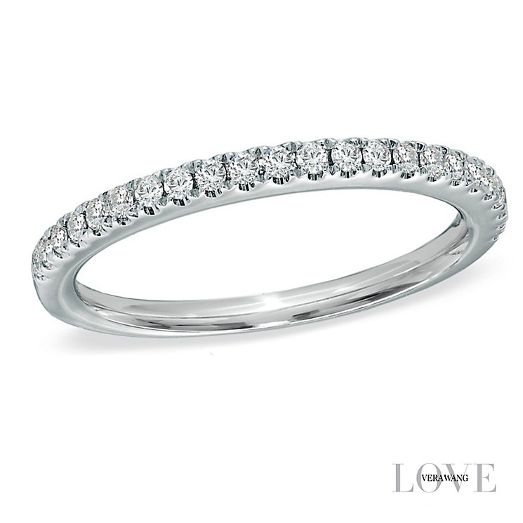 Vera Wang 18ct White Gold 0.23ct Diamond Wedding Band - Product number 2607328