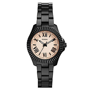 Fossil Cecile ladies' black ion-plated bracelet watch - Product number 2607719