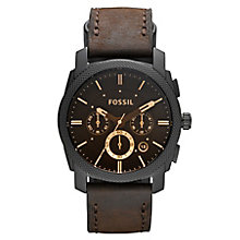 Fossil Machine men's chronograph leather strap watch - Product number 2607743