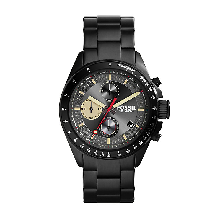 Fossil Decker men's black ion-plated bracelet watch - Product number 2607751