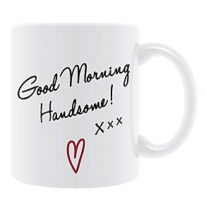 White Good Morning Handsome Mug - Product number 2609916