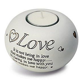 White Love Tea Light Holder - Product number 2609983