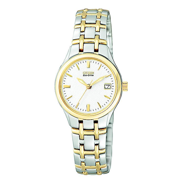 Citizen Eco-Drive Bella ladies' two colour bracelet watch - Product number 2612224