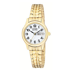 Citizen ladies' gold-plated bracelet watch - Product number 2612267