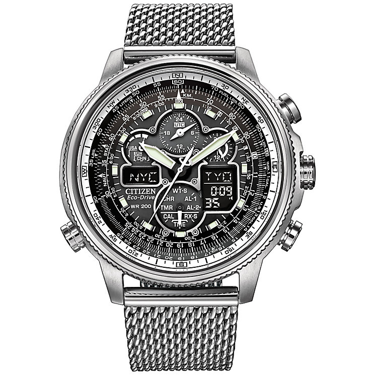 Citizen Eco-Drive Navihawk Men's A.T Bracelet Watch - Product number 2612283