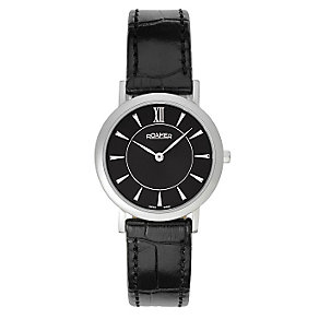 Roamer Limelight ladies' black leather strap watch - Product number 2612682
