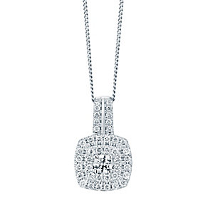 9ct white gold 0.50CT diamond pendant - Product number 2612836