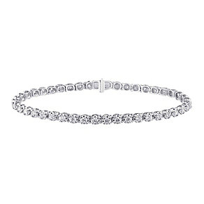 9ct white gold, 2CT diamond bracelet with secret diamond - Product number 2612844