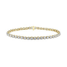 9ct yellow gold, 2CT diamond bracelet with secret diamond - Product number 2612852
