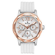 Bulova ladies' white leather strap Dress watch - Product number 2612976