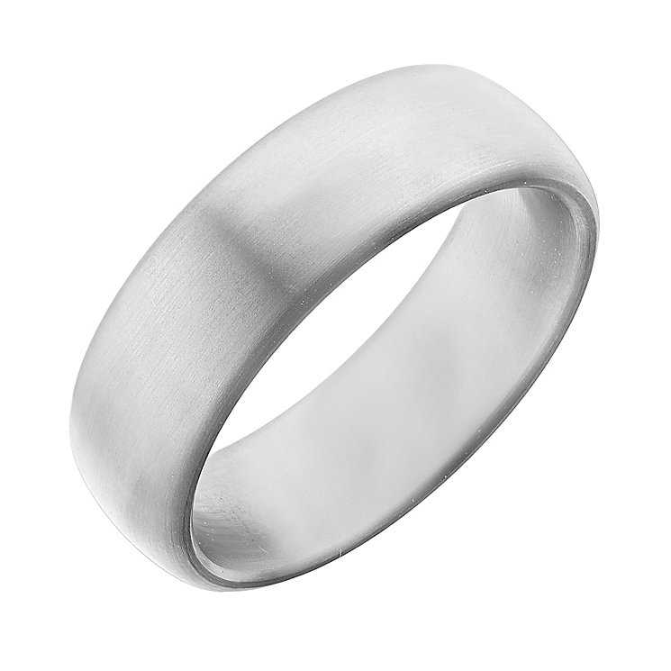 Men's titanium 7mm matt ring - Product number 2615940
