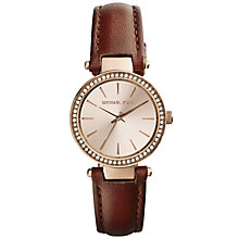 Michael Kors Petite Darci ladies' brown leather strap watch - Product number 2617145