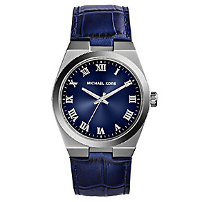 Michael Kors Channing ladies' blue leather strap watch - Product number 2618451