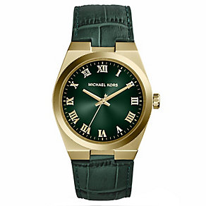 Michael Kors Channing green leather strap watch - Product number 2618753