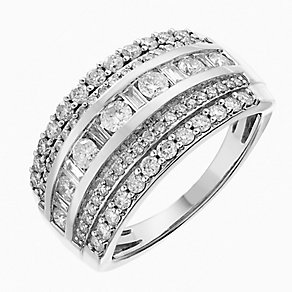 18ct white gold one carat diamond ring - Product number 2619318