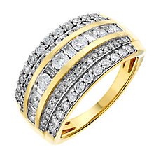 18ct yellow gold one carat diamond ring - Product number 2619431