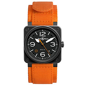 Bell & Ross limited edition men's orange fabric strap watch - Product number 2620472