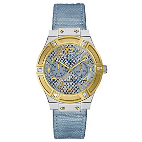 Guess Ladies' Multifunction Blue Leather Strap Watch - Product number 2621703