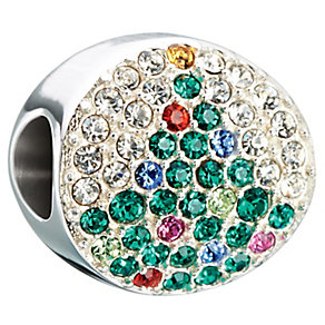 Chamilia Sterling Silver & Swarovski Elements Noel Tree Bead - Product number 2621746