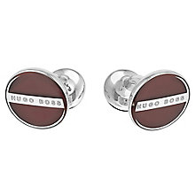 Hugo Boss Norberto men's round red cuff links - Product number 2621932