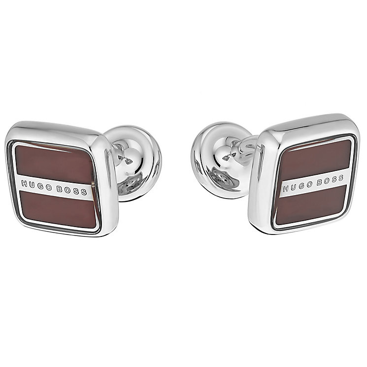 Hugo Boss Robert men's square red cuff links - Product number 2622009