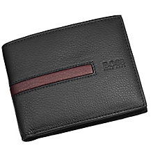 Hugo Boss Maino men's black & brown bifold wallet - Product number 2622203