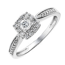 9ct white gold 0.33CT halo diamond ring - Product number 2624060