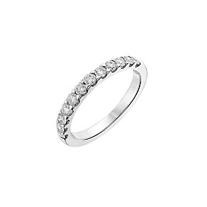 9ct white gold, half carat diamond wedding ring - Product number 2624656