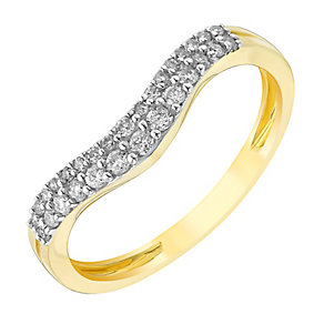 9ct gold 20pt diamond shaped band - Product number 2625709