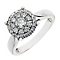 18ct white gold 0.75CT diamond cluster ring - Product number 2625830