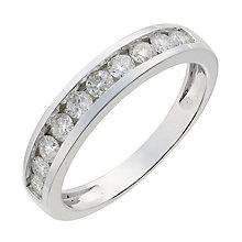 9ct white gold half carat diamond ring - Product number 2626101