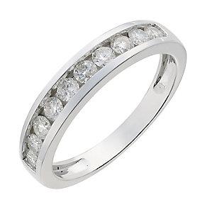 9ct white gold half carat diamond ring - Product number 2626101
