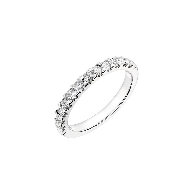 Platinum half carat diamond wedding ring - Product number 2626373