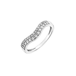 18ct white gold, 0.33CT diamond shaped wedding ring - Product number 2626519