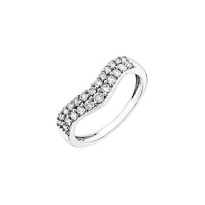 18ct white gold, half carat diamond shaped wedding ring - Product number 2626640