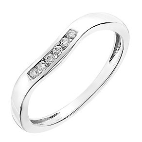 9ct white gold 6 point diamond channel set ring - Product number 2626780