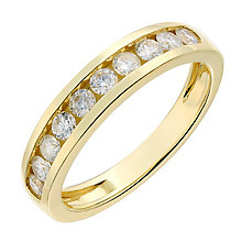 9ct gold half carat diamond ring - Product number 2626926