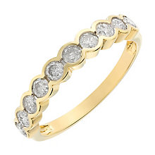 18ct yellow gold bezel set diamond ring - Product number 2627302