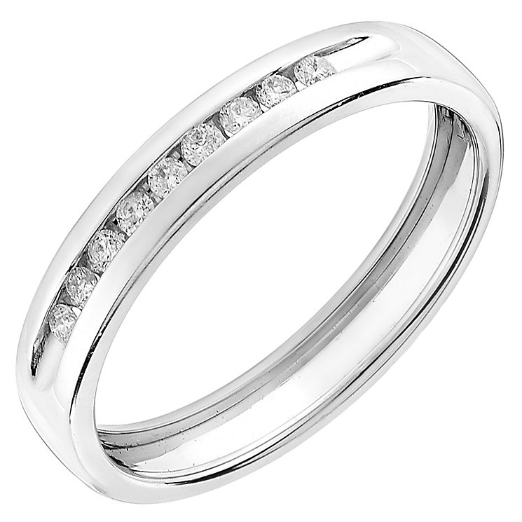 9ct White Gold 010CT Diamond Wedding Ring