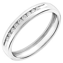 9ct white gold 010ct diamond wedding ring product number 2627574 - White Gold Wedding Rings