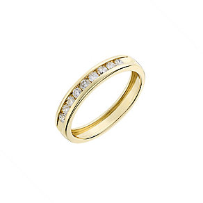 9ct yellow gold, 0.25CT diamond wedding ring - Product number 2627965