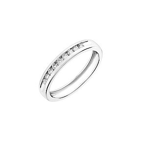 18ct white gold, 0.15CT diamond wedding ring - Product number 2628104