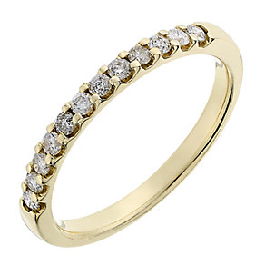 9ct yellow gold 0.25CT diamond ring - Product number 2629038
