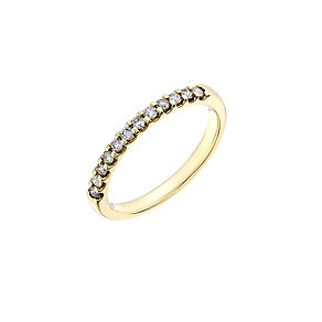 18ct yellow gold 1/4 carat diamond wedding ring - Product number 2629151