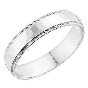 9ct white gold 4mm wedding ring - Product number 2629550