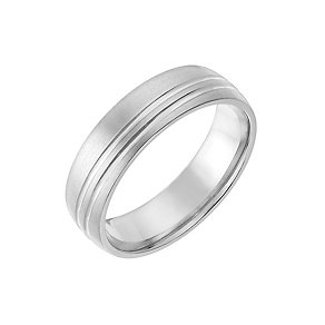 Titanium 6mm Matt & Polished Line Patterned Ring - Product number 2633973